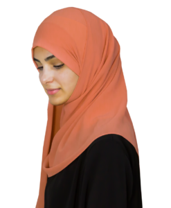 Elegant orange hijab