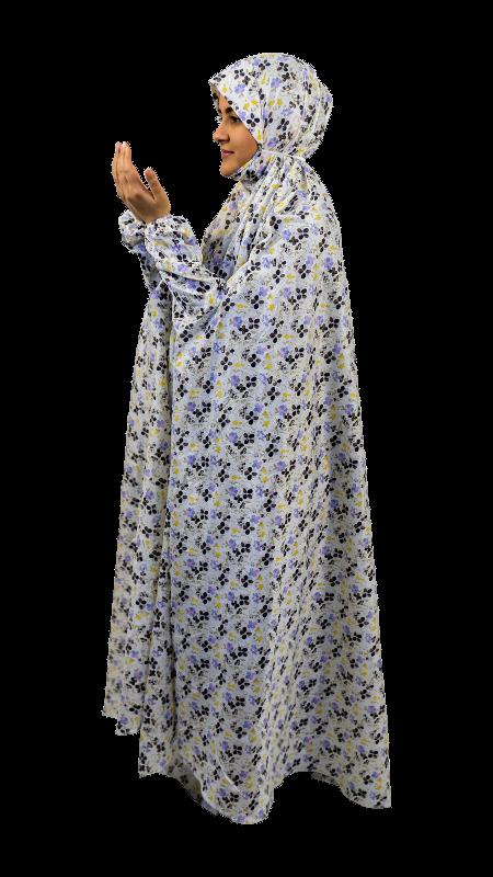 Maral bönedräkt - Blå & brun