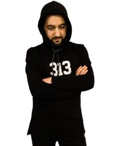 313 Longline Hoodie - Svart