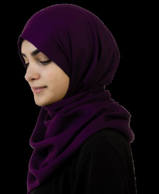 Highness Eggplant hijab