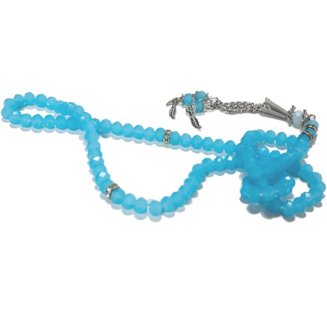 Elegant radband - Matt ljusblå