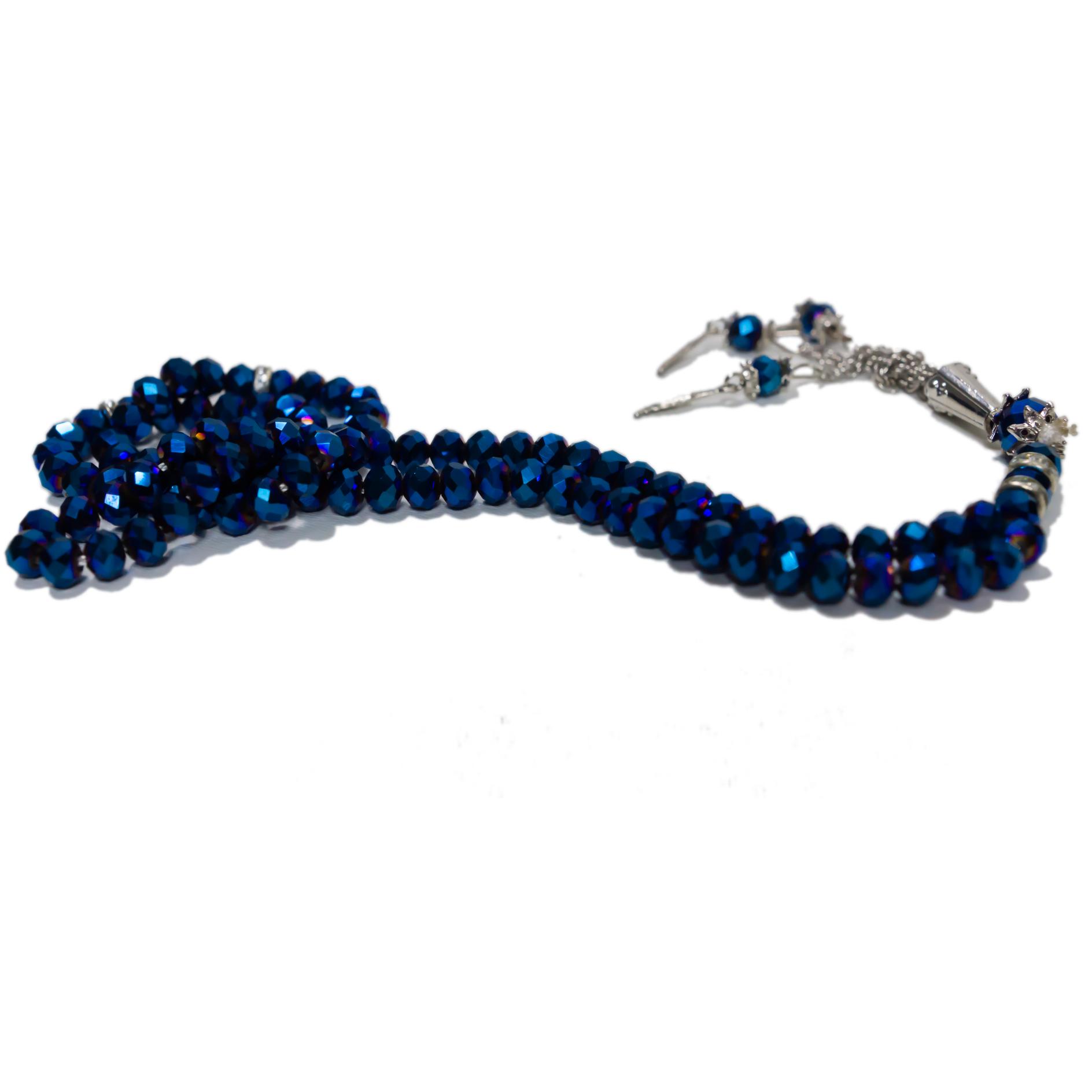 Elegant radband - Metallic mörkblå