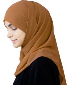 Elegant Medium Karamell hijab