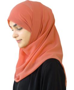 Elegant Peach hijab
