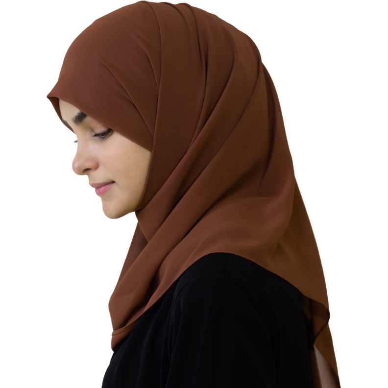 Elegant Coffee hijab