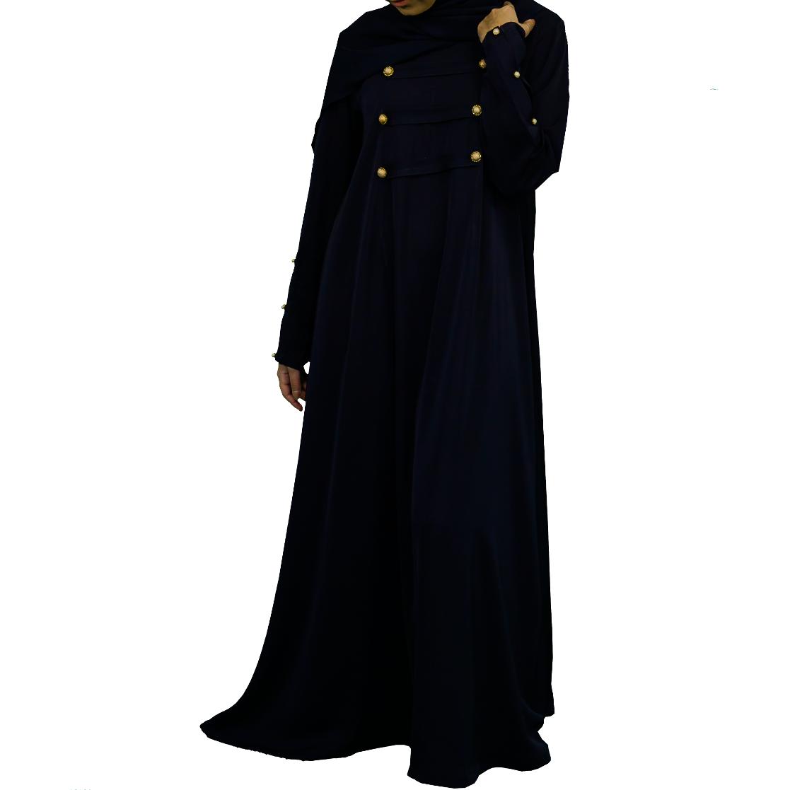 Abaya med knappar