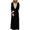 Abaya med spets - Svart