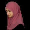 Elegant pink hijab