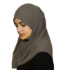 Elegant grey hijab