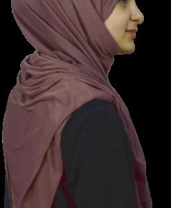 Jersey argyle purple hijab