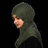 Jersey militärgrön hijab