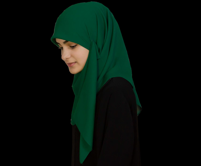 Kvadratisk grön hijab