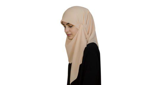 Kvadratisk ljus orange hijab