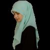 Kvadratisk ljusblå hijab