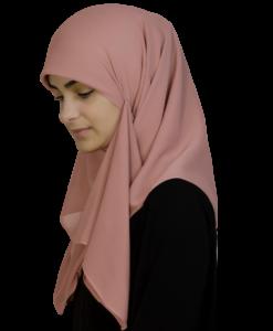Kvadratisk puderrosa hijab