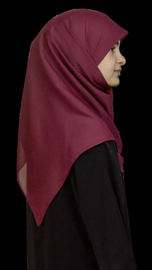 Kvadratisk vinröd hijab