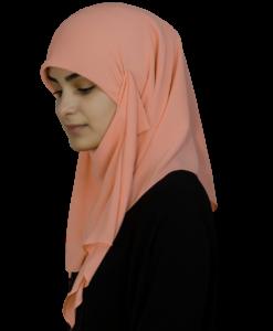 Kvadratisk aprikos hijab