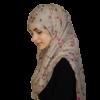 Flower beige/rosa hijab